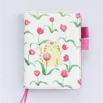 Harga Creative Leather hand account hardcover BENSE.O cute cartoon hand-painted A6 schedule BENSE.O program BENSE.O hand account BENSE.O child