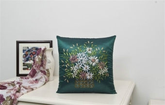 Harga Chinese traditional design Silk pillow case/ Silk pillow cover /Cushion cover/Peacock Blue