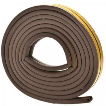 Harga Jetting Buy 5M E/D/I-type Foam Draught Self Adhesive Window Door Excluder Rubber Seal Strip (Coffee D)