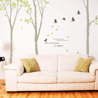 Harga Boulevard trees love style covered trees living room large wall stickers free stickers floor glass stickers korean entrance channel