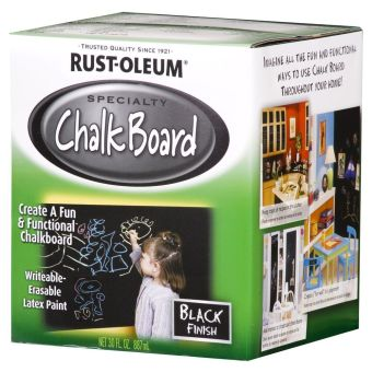 Harga Rust-Oleum Specialty Chalk Board Paint (Black Finish) 887ml