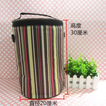 Harga Japan round pupils waterproof portable thermal lunch bag lunch bag oxford cloth lunch bag large drums