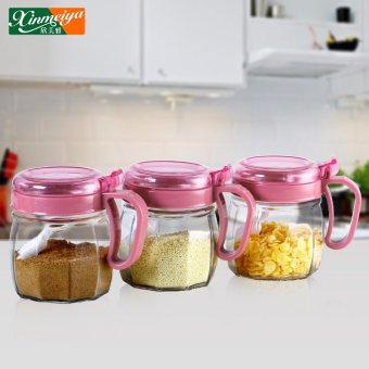 Harga Glass set box set kitchen supplies seasoning bottle spice jar seasoning box oiler salt shaker set