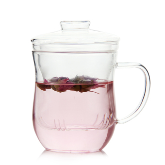 Harga Tian Xi hand made heat-resistant Glass lid filter tea cup office with transparent water cup