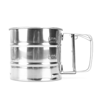 Lgpenny Stainless Steel Flour Sugar Icing Mesh Sifter Sieve Shaker Kitchen Baking Supply - intl