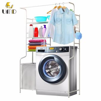 Harga Anti-rust Multifunctional Laundry Organizer drying Rack Washing Machine shelf