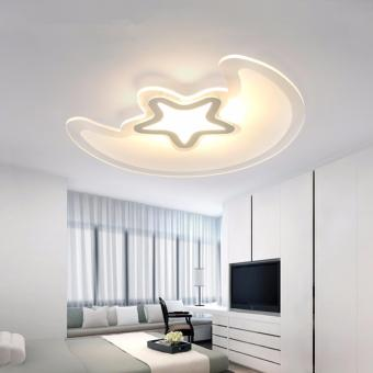 Harga LED Ceiling Light 50cm 26W (Three Color) DSX3325 Creative Moon Star LED Acrylic Lamps Children's Room Oyster Lights - intl