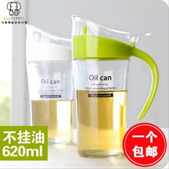 Harga Kitchen glass oiler leakproof oil canned edible oil soy sauce vinegar bottle seal oil control pressed-home bottle
