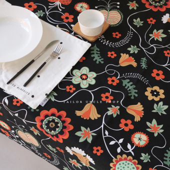 Harga Tailor made uncle black flowers modern minimalist coffee table cloth table cloth sofa cover cloth hot new