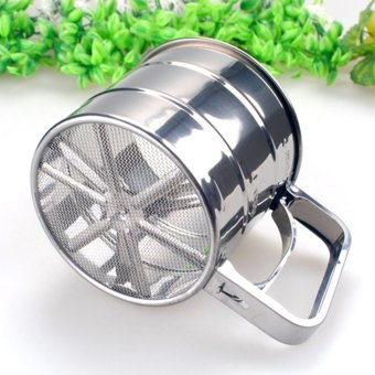 Stainless Steel Flour Sieve Filter (Silver)