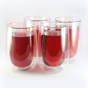 Artless Goods Double Wall Glass 400ml L (Set of 4)