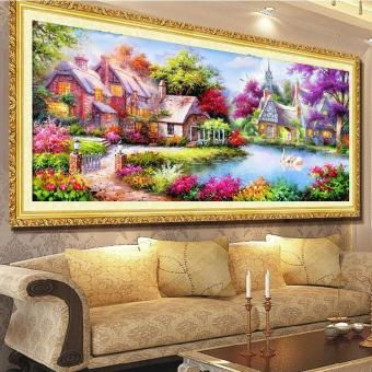 Harga 5d Diamond Painting Mosaic Landscapes Garden Lodge Cross Stitch Kits Diamonds Embroidery Home Decoration - intl
