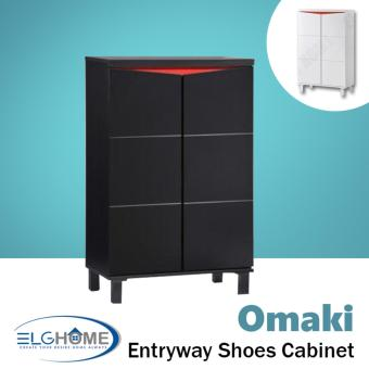 Harga OMAKI Entryway Shoe Storage Cabinet Short (Black) (FREE Install & Delivery)