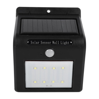 Harga Wireless Led Solar Power Lamp PIR Motion Sensor Solar Power Light (8Leds) - intl
