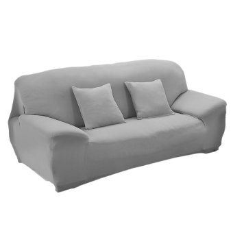 Harga Spandex Stretch Lounge Sofa Couch Seat Cover Slipcover Case Home Decor Grey(Export)