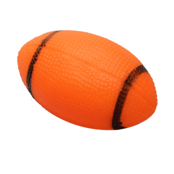Harga Pet Dog Chew Toy Squeaky Rugby Ball Orange