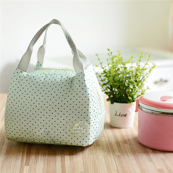 Harga Portable Insulated Tote lunch Bag for Women kids Lunch Box Bag (green)