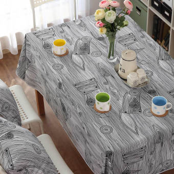 Harga Modern Quality Cotton Canvas tablecloth