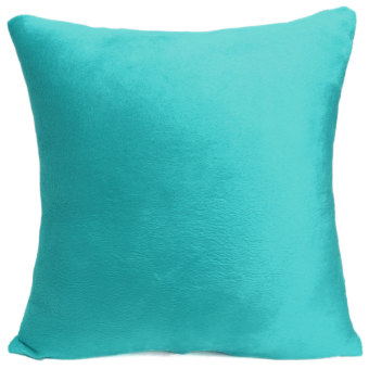 Pure Color Soft Plush Throw Pillow Case Sofa Car Cushion Cover Home Decorative - Intl