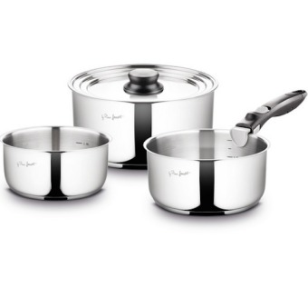 Harga Lamart LT1009 Kims Stainless Steel Pot Set with removable handle
