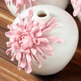 Harga Chrysanthemum flower bottle soft outfit decoration office household decoration of modern living room table Home Furnishing ceramic small fresh flower pink size:13.5x11x12cm(small) - intl