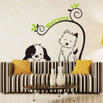 Harga 8145 cartoon children's room wall stickers wallpaper stickers room decor living room bedroom wall wallpaper adhesive DXH