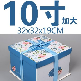 Harga Honor to increase the 6 inch 8 inch 10 inch 12 inch 14 inch baking cake box box triple square specials wholesale