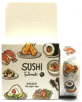 Harga Sushi Design Decorative Washi Masking Tapes (White)