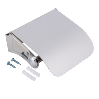 OH Wall Mounted Toilet Roll Holder Bathroom Accessory Toilet Roll Dispenser Silvery&Gray