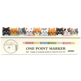 Harga Cat 10in1 Sticky Memo Post It Notes Stick Marker (White)