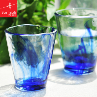 Harga Bormioli Rocco imported rendering blue glass craft cup heat-resistant Cool cups