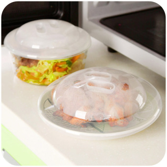 Harga Home home microwave heating fresh lid microwave bowl lid refrigerator sealed cover plastic transparent round bowl Lid