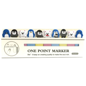 Harga Penguin 10in1 Sticky Memo Post It Notes Stick Marker (White)