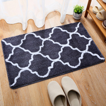 Harga Entrance foyer interior suede cleaning floor mat foot pad carpet bathroom absorbent pad slip mat