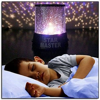 Harga LED Colorful Sky Star Projector Lamp Night Light (Black) - intl