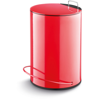 Harga LAMART Stainless Steel Step Dust Bin 5L - RED