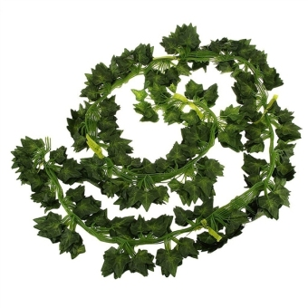 Harga 12pcs 6.5ft Artificial Wall Hanging Ivy Vine Foliage Leaf Garland Plants Decor Flowers Home Decor - Sweet Potato Leaf