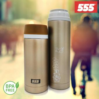 Harga 555 Stainless Steel Vacuum Flask 500ml (LOVE FLIES/Gold)