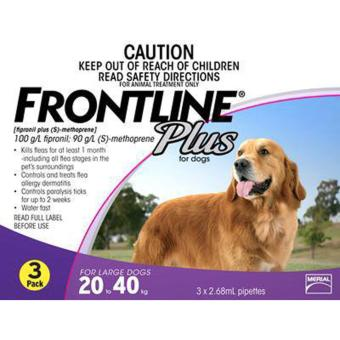 Frontline Plus (dogs 20-40kg) 3 dose