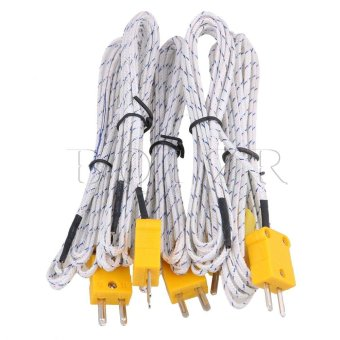 Harga 200cm K Type Thermocouple cable Set of 5 White - intl
