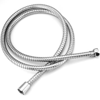Harga IBERL High quality explosion-proof tube 1.5M long Flexible Stainless Steel Chrome Shower Head Bathroom Water Hose Pipe - intl
