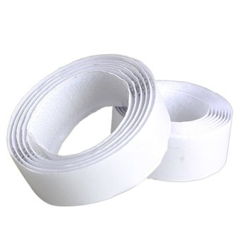 Harga HKS 1 Rolls Strong Self Adhesive Velcro Hook Loop Tape Fastener 1m (White)(Export)