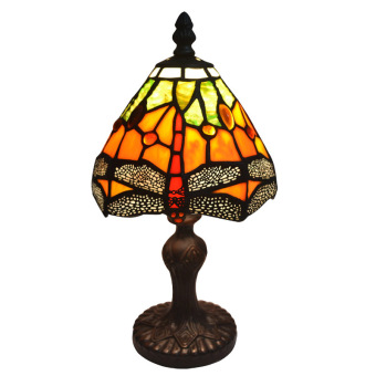 Harga Stained glass dragonfly tiffany accent animal table lamp - intl