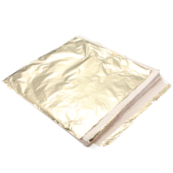Harga 1000 Sheet Imitation Gold Leaf Foil 14x14cm Transfer Leaf Surface Gilding DIY NEW - intl
