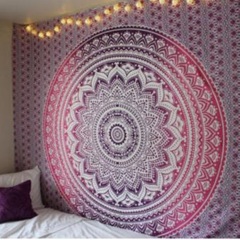 Harga Polyester Mandala Wall Tapestry 210x150cm (Thorn Apple) - intl