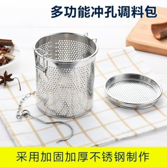 Harga Stainless steel ball seasoning packet stew seasoning box ball halogen material ball soup ball hot pot spices across the slag basket ball tea