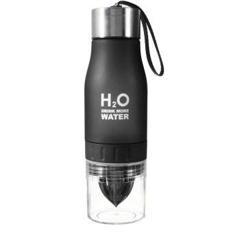 Harga H2O 650ml Sports Lemon Juice Infusing Water Bottle (Black)