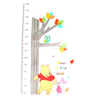 Harga DIY Removable Winnie The Pooh Height Chart Children Growth Measure Wall Sticker