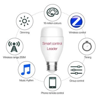 Harga Wireless WiFi Control Smart LED Light Bulb Support Alexa Echo Voice Control - intl