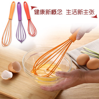 Harga Creative and colorful silicone egg beater egg beater handheld whisk kitchen baking tools egg blender